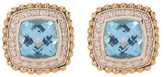Lagos Two-Tone Diamond & Blue Topaz Stud Earrings