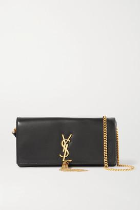 Saint Laurent Kate Leather Shoulder Bag - Black