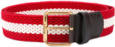 Bally striped belt - men - Leather/Polyester - 85