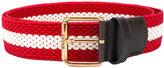 Bally striped belt - men - Leather/Polyester - 90