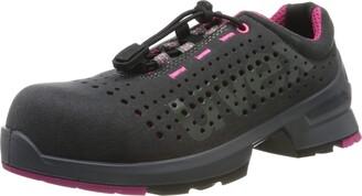 UVEX 1 Ladies Work Shoe - Safety Trainer S1 SRC ESD - Grey-Pink - Size 3
