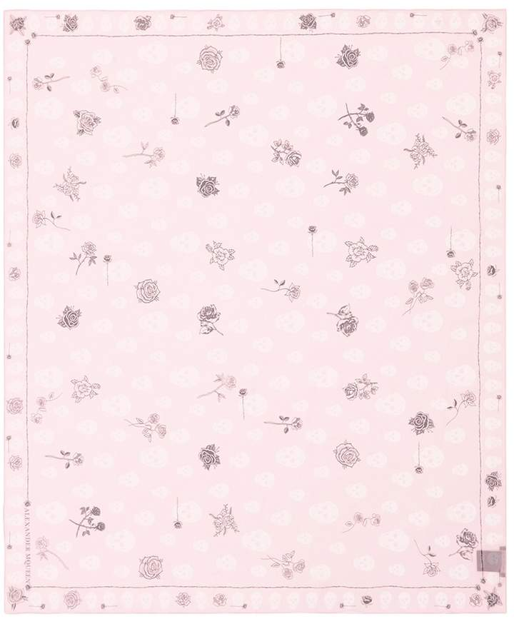 Alexander McQueen 'Skull and Roses' print scarf