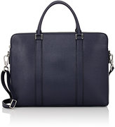 Barneys New York MEN'S THREE-COMPARTMENT BRIEFCASE-NAVY