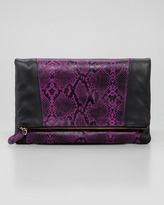 Be & D Nixie Clutch Bag, Purple