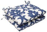 Bos. & Co. Pillow Perfect Indoor/Outdoor Bosco Squared Seat Cushion, Navy, Set of 2