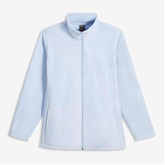 Joe Fresh Women+ Mock Neck Jacket, Pale Blue (Size 2X)