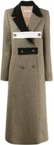 Ssheena double breasted multi-fasten coat