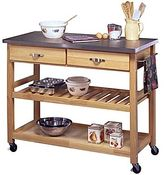 JCPenney Kitchen Cart, Stainless Steel Top