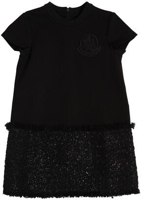 Moncler Wool Blend Sweatshirt & Boucle Dress