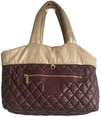 Chanel Coco Cocoon Burgundy Leather Travel bags