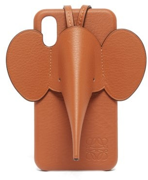 Loewe Elephant Iphone Xs Max Leather Phone Case - Mens - Brown
