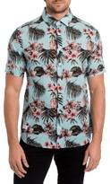7 Diamonds Men's Palapa Funk Print Woven Shirt