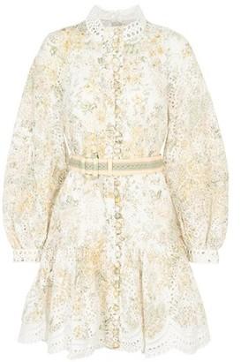 Zimmermann Amelie Embroidered Short Dress