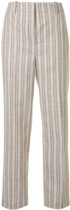Our Legacy Striped High-Rise Straight-Leg Trousers