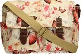 SwankySwans Swanky Floral Butterfly PU Leather Satchel Bag Girls School Bag Womens Handbag