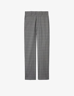 Zadig & Voltaire Peter checked straight-leg mid-rise cotton trousers