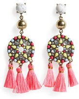 BaubleBar Women's Mosaic Tassel Drop Earrings