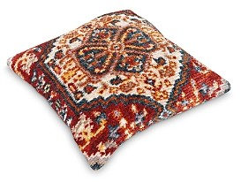 Surya Savona Burnt Orange Throw Pillow, 27 X 27