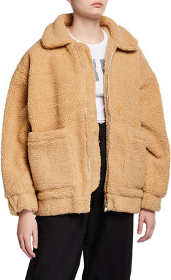 I.AM.GIA Pixie Sherpa Zip-Front Coat