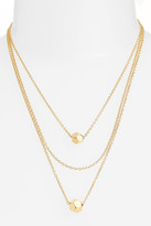 Rebecca Minkoff Cube Multistrand Necklace