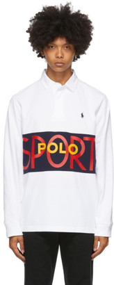 Polo Ralph Lauren White Active Rugby Polo