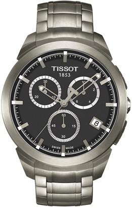 Tissot Men's Titanium Chronograph Bracelet Watch, 43mm