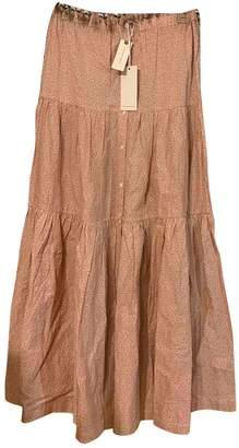 Anthropologie \N Orange Cotton Skirt for Women