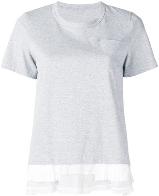 Sacai layered hem T-shirt