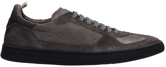 Officine Creative Kadett Sneakers In Grey Suede And Leather