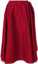 Prada drawstring A-line skirt