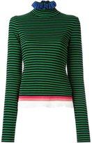 MSGM striped roll neck jumper