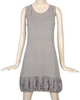 Bubble Chiffon Sweater Dress