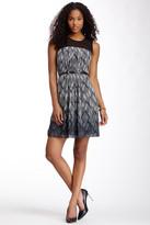 Ro & De Sheer Yoke Print Dress