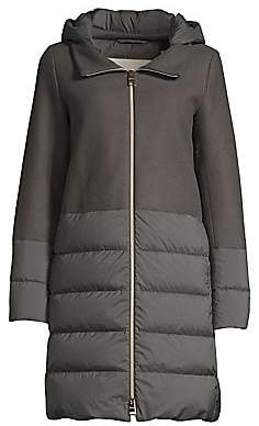 Herno Women's Nuage Wool-Blend Puff Down Jacket