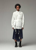 Yohji Yamamoto Y's By Y's by Women's Wrap Cloth Shirt in White Size 2 100% Cotton