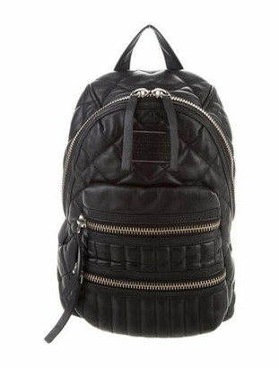 Marc by Marc Jacobs Quilted Leather Backpack Black