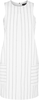 Oxford Belinda Pinstripe Shift Dress Wht X