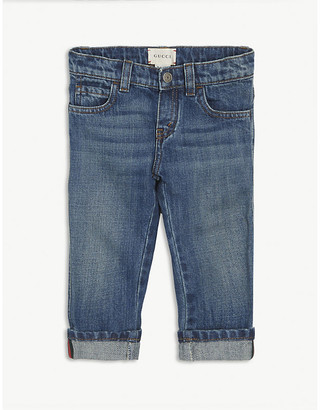 Gucci Web stripe cotton jeans 6-24 months