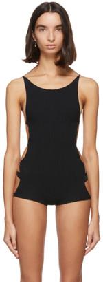 Rui Black Nylon Shorts Bodysuit