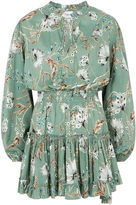 MISA Lorena Floral-print Rayon-blend Mini Dress