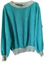 Ungaro Green Silk Top for Women Vintage