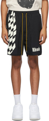 Rhude Black Track Shorts