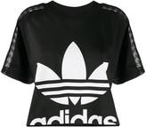 adidas cropped lace T-shirt