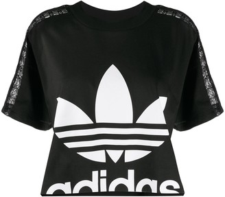 adidas cropped lace T-shirt