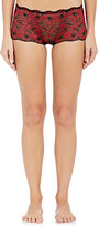 Cosabella WOMEN'S PEACOCK LACE LOW-RISE HOT PANTS-RED SIZE S