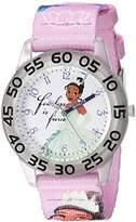 Disney Girl's 'Tiana' Quartz Plastic and Nylon Casual Watch
