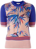 Emilio Pucci bamboo print knit top - women - Silk/Cotton - XS