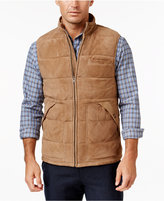 Tasso Elba Men's Suede Quilted Vest, Only at Macy's