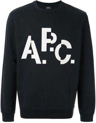 A.P.C. Decale logo print sweatshirt