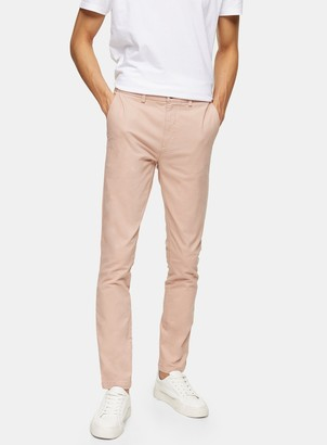 Topman Pink Stretch Skinny Chinos